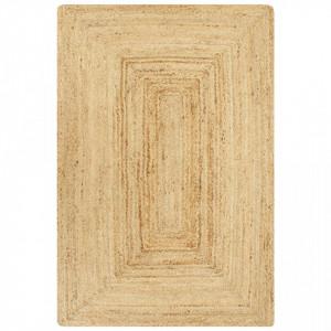 Covor manual, natural, 160 x 230 cm, iuta - V133730V