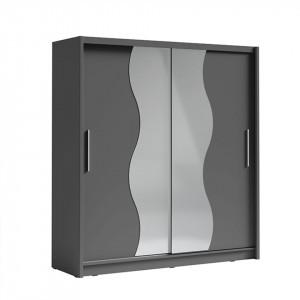 Dulap cu uşi glisante, grafit gri închis, BIRGAMO TYP 2