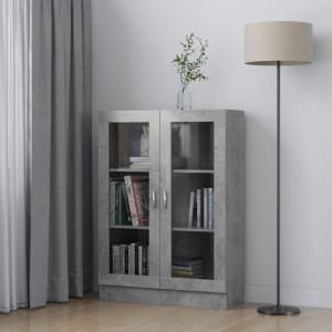 Dulap cu vitrina, gri beton, 82,5 x 30,5 x 115 cm, PAL - V802754V