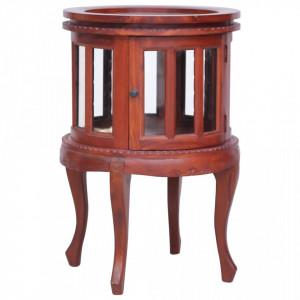Dulap cu vitrina, maro, 50 x 50 x 76 cm, lemn masiv de mahon - V283843V