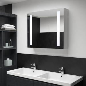 Dulap de baie cu oglinda si LED, 89 x 14 x 62 cm - V285126V
