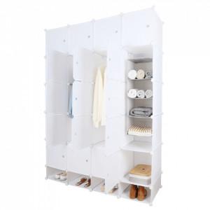 Dulap multifuncţional modular, alb, ZAFOD