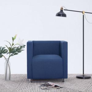 Fotoliu cubic, albastru, material textil - V282147V