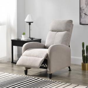 Fotoliu Relax Textil Maro, 102 x 60 cm, poliester, maro, cu spatar reglabil - P68050989
