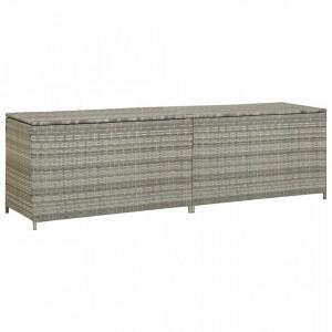 Lada de depozitare de gradina, gri, 200x50x60 cm, poliratan - V46476V