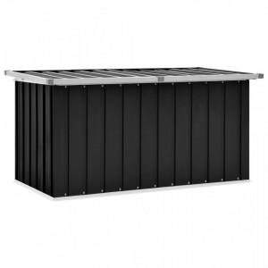 Lada de depozitare pentru gradina, antracit, 129 x 67 x 65 cm - V46263V