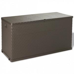 Lada de depozitare pentru gradina, maro, 120 x 56 x 63 cm - V43710V