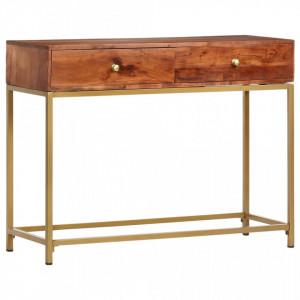 Masa consola, 100x35x76 cm, lemn masiv de acacia - V286175V