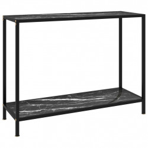 Masa consola, negru, 100 x 35 x 75 cm, sticla securizata - V322838V