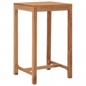 Masa de bar de gradina, 60 x 60 x 105 cm, lemn masiv de tec - V287235V