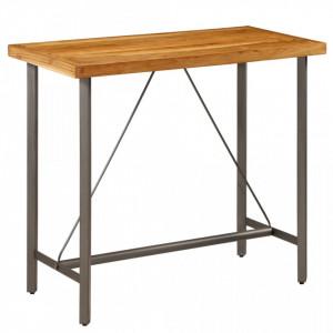 Masa de bar din lemn masiv de tec reciclat 120 x 58 x 106 cm - V245804V