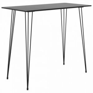 Masa de bar, negru, 120 x 60 x 105 cm - V248143V