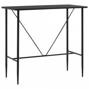 Masa de bar, negru, 120 x 60 x 110 cm, MDF - V281546V
