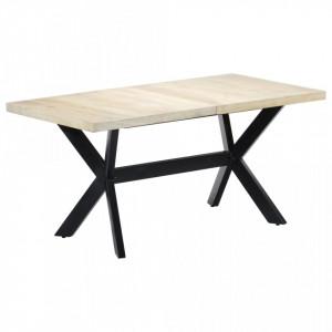 Masa de bucatarie, alb, 160x80x75 cm, lemn masiv de mango - V247434V