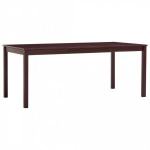 Masa de bucatarie, maro inchis, 180 x 90 x 73 cm, lemn de pin - V283407V