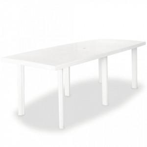 Masa de gradina, alb, 210 x 96 x 72 cm, plastic - V43595V