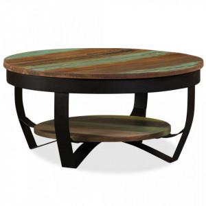 Masuta de cafea, lemn masiv reciclat, 65 x 32 cm - V244674V
