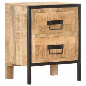 Noptiera, 40 x 30 x 50 cm, lemn masiv de mango nefinisat - V287861V