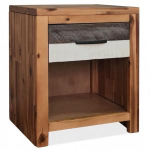 Noptiera din lemn masiv de acacia, 40 x 30 x 48 cm - V246041V