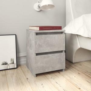 Noptiere, 2 buc., gri beton, 30 x 30 x 40 cm, PAL - V800522V