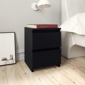 Noptiere, 2 buc., negru, 30 x 30 x 40 cm, PAL - V800516V