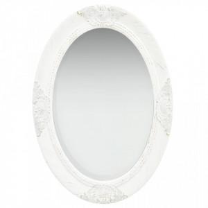 Oglinda de perete in stil baroc, alb, 50 x 70 cm - V320352V