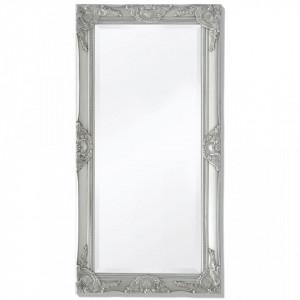 Oglinda verticala in stil baroc, 100 x 50 cm, argintiu - V243681V