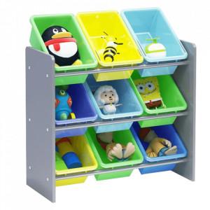 Organizator de jucării, multicolor / gri, KIDO TYPE 3