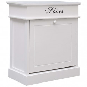 Pantofar, alb, 50 x 28 x 58 cm, lemn de paulownia - V284085V