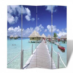Paravan de camera pliabil, 160 x 170 cm, plaja - V240476V