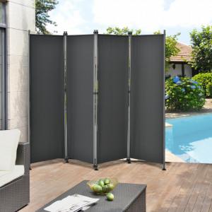 Paravan solar/Separator exterior Duna, protectie vizuala, 215 x 170 cm, poliester, gri - P56718034