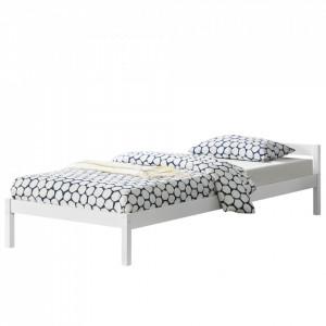 Rama pat Olanda cu gratar pentru doua persoane, 206 x 96 x 50 cm,100 Kg, brad, alb - P65373544