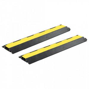 Rampe de protectie cabluri, 2 buc, 2 canale cauciuc, 101,5 cm - V3057526V