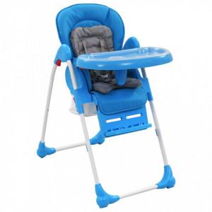 Scaun de masa inalt pentru copii, albastru si gri - V10187V