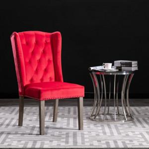 Scaun de sufragerie, rosu, catifea - V287957V