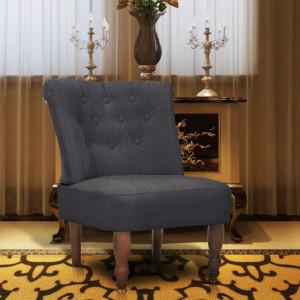 Scaun in stil frantuzesc, gri, material textil - V240287V