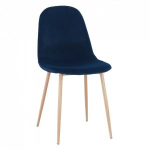 Scaun, ţesătură albastră din catifea / fag, LEGA