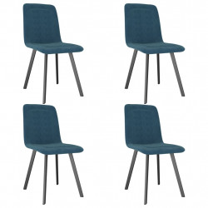 Scaune de bucatarie, 4 buc., albastru, catifea - V279424V