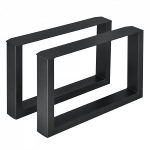 Set 2 bucati picioare masa/mobilier Model 2, 64 x 40 cm, metal, negru - P57353522