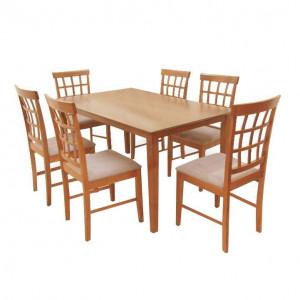 Set dining 1+6, cireş, GRID NEW