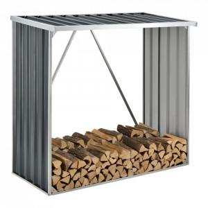 Suport depozitare lemne foc Kalmar W, 156 x 80 x 152 cm, otel galvanizat, gri antracit - P72607232