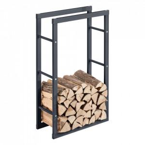 Suport lemne foc Kasan 3, 60 x 100 x 25 cm, otel, gri - P71406187