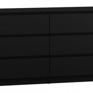 TECON107 - Comoda 120 x 30 x 77 cm, Negru-Mat