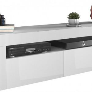 TECOTVA103 - Comoda TV 140 x 40 x 45 cm, Alb-Lucios