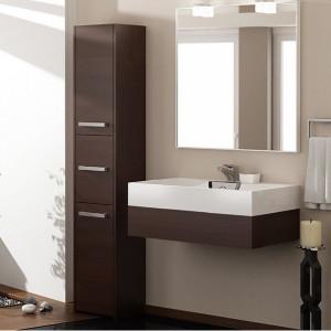 TEDUM102 - Dulap inalt baie, Wenge 30 x 30 x 170 cm, PAL