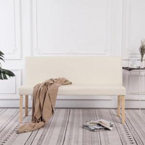 Banca, crem, 139,5 cm, piele ecologica - V281330V