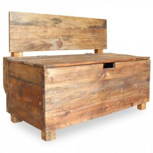Banca din lemn reciclat de esenta tare, 86 x 40 x 60 cm - V244510V