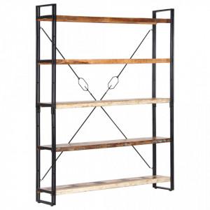 Biblioteca cu 5 rafturi, 140 x 30 x 180 cm, lemn masiv reciclat - V286583V