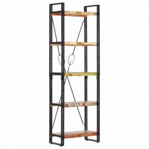 Biblioteca cu 5 rafturi, 60 x 30 x 180 cm, lemn masiv reciclat - V286585V