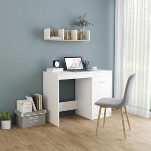 Birou, alb, 100 x 50 x 76 cm, PAL - V801796V